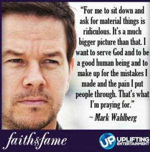 Mark Wahlberg - serve God