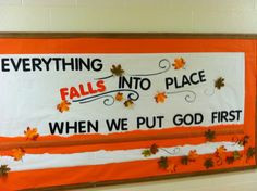 fall autumn religious bulletin board more boards doors decor fall ...