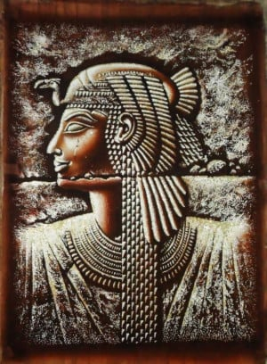 Egyptian Papyrus Paintings, Queen Cleopatra
