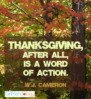 thanksgiving quote word of action