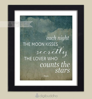 Rumi Quote Poster 8x10 Typography Each by digibuddhaArtPrints, $18.00 ...