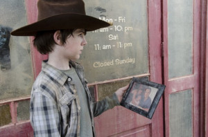 ... names chandler riggs characters carl grimes still of chandler riggs
