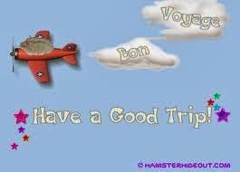 Have A Safe Trip Have a safe journey, violet