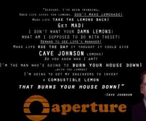 cave johnson lemons hd wallpaper color palette tags quotes portal cave ...