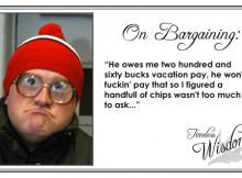 Trailer Park Boys' Bubbles on Bargaining