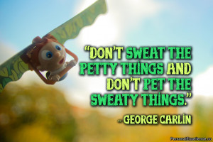 """Inspirational Quote: """"Don't sweat the petty things and don't pet the ..."""