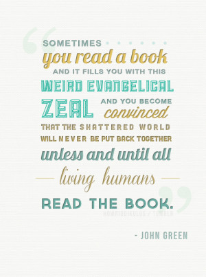... put back together unless and until all living humans read the book