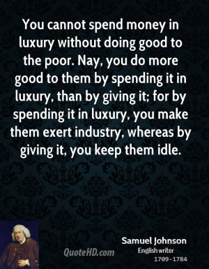 Samuel Johnson Money Quotes
