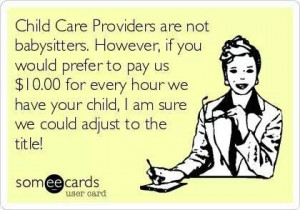 Childcare providers