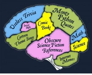 Funny and The Nerd Brain Infographic