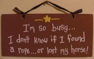 so busy.....