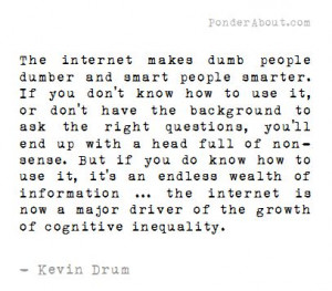 The Internet and Cognitive Inequality