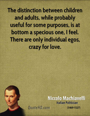 Niccolo Machiavelli Love Quotes