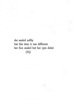 She smiled softly