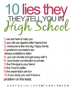 and now a blog post on how to survive high school or middle school