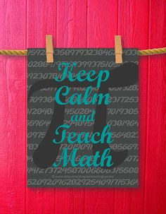 teacher gift features a pi background and the math teacher quote ...