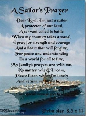 NAVY #1- SAILOR'S PRAYER poem print - no US s/h fee