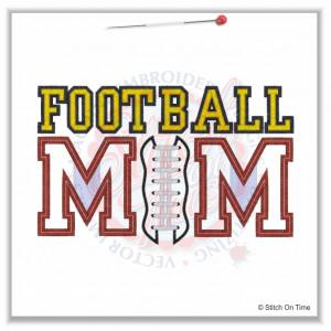 4933 Sayings : Football Mom Applique 5x7