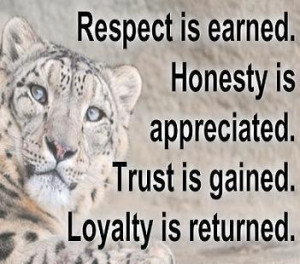 Respect-Honesty-Trust-Loyalty