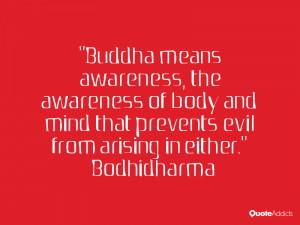 Awareness Quotes Buddha Buddha Means Awareness