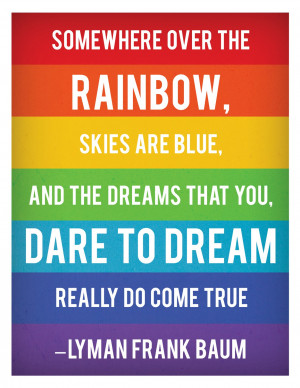 Somewhere Over The Rainbow Printable Quote