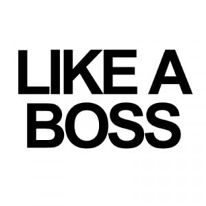 Like a boss – Quote