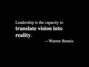 Warren Bennis #inspirational #quote on leadership