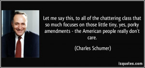 More Charles Schumer Quotes