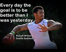Russell Wilson Poster Seattle Seaha wks Photo Quote Wall Art Print 5x7 ...