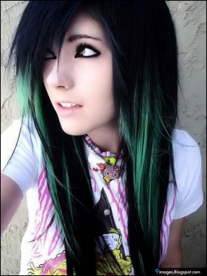Emo-girl, scene, cute, innocent, hair-style