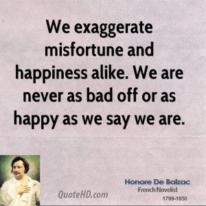 Honore de Balzac Happiness Quotes