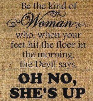 rebuking satan.....