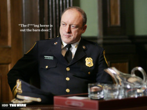 THE-WIRE hbo crime drama television poster sadic police g wallpaper ...