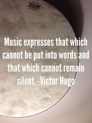 quote from Victor Hugo about music