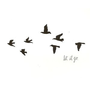 Pin Feather Quill Tattoo With Flying Birds The Flight Of Leads Them Ti ...