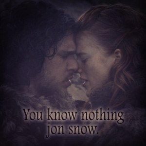 Você não sabe de nada Jon Snow. #jonsnow #ygritte #foto #fotos #got ...
