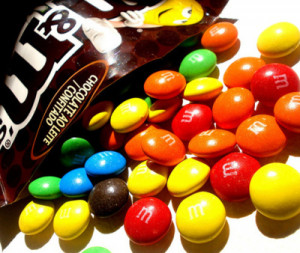 chocolate, colorful, m&m