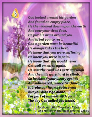 ... , Gardens Sayings, Memories, Angels, God Gardens Poems, God Call