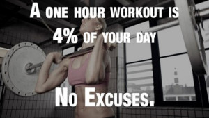 One Hour Workout Is 4% Of Your Day