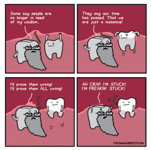 LOL comics science wisdom tooth