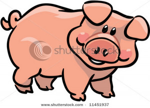 funny pig clipart