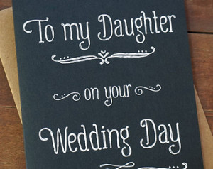 To My Daughter On Your Wedding Day - Wedding Day Card - Mother of the ...