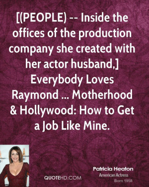 PEOPLE) -- Inside the offices of the production company she created ...