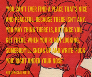 the catcher in the rye holden caulfield quote