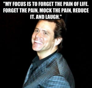 Jim Carrey's focus in comedy