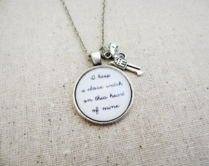 Johnny cash i walk the line inspired lyrical quote necklace with gun ...