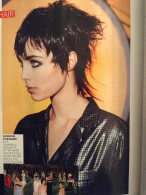 ... Mullets, Edgy Haircuts, Edie Campbell, Campbell Punk, Cool Mullets