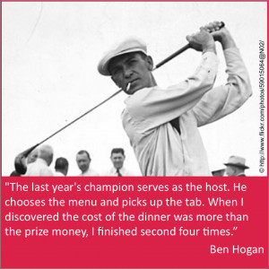 Ben Hogan actually won the Masters twice, in 1951 and 1953.