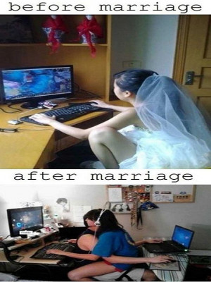 When girl gamer gets married..