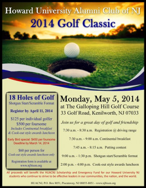 Join the HU Alumni Club of New Jersey for its 2014 Golf Classic
